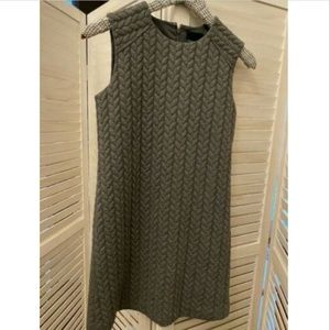 CYNTHIA ROWLEY GREY QUILTED SLEEVELESS DRESS XS